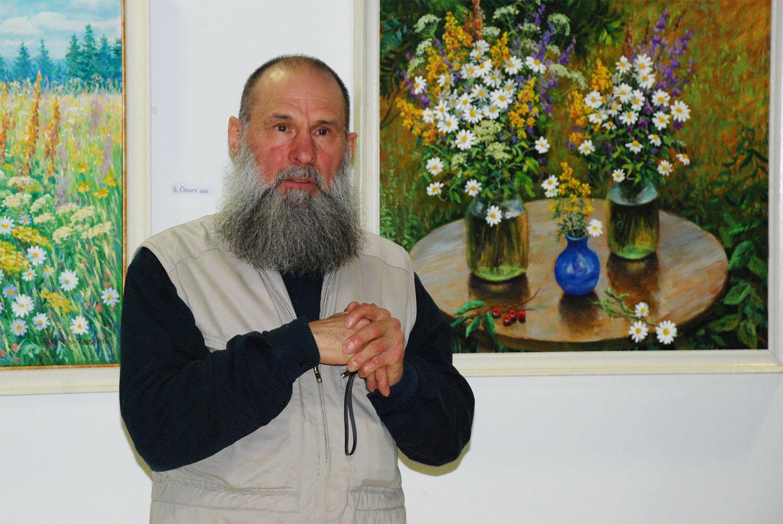 Разговор художника с цветами и зрителями